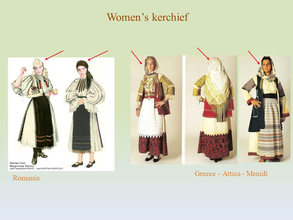 Greece – Attica - Menidi Romania Womens kerchief
