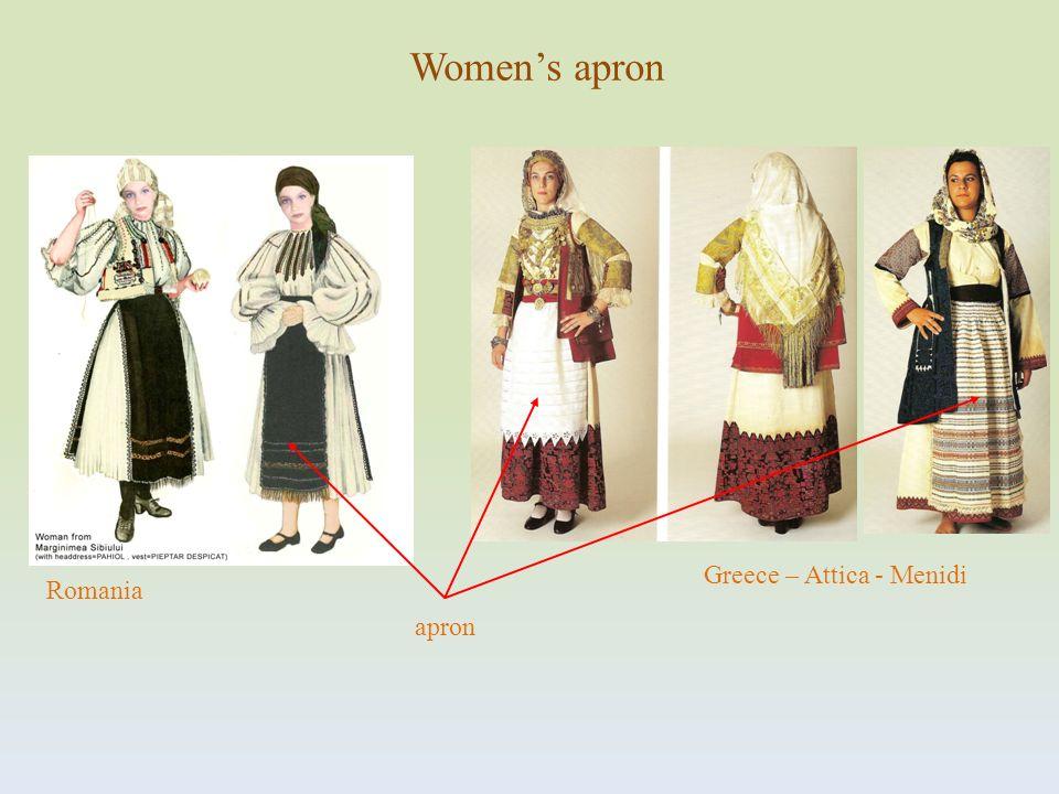 Greece – Attica - Menidi apron Romania Womens apron