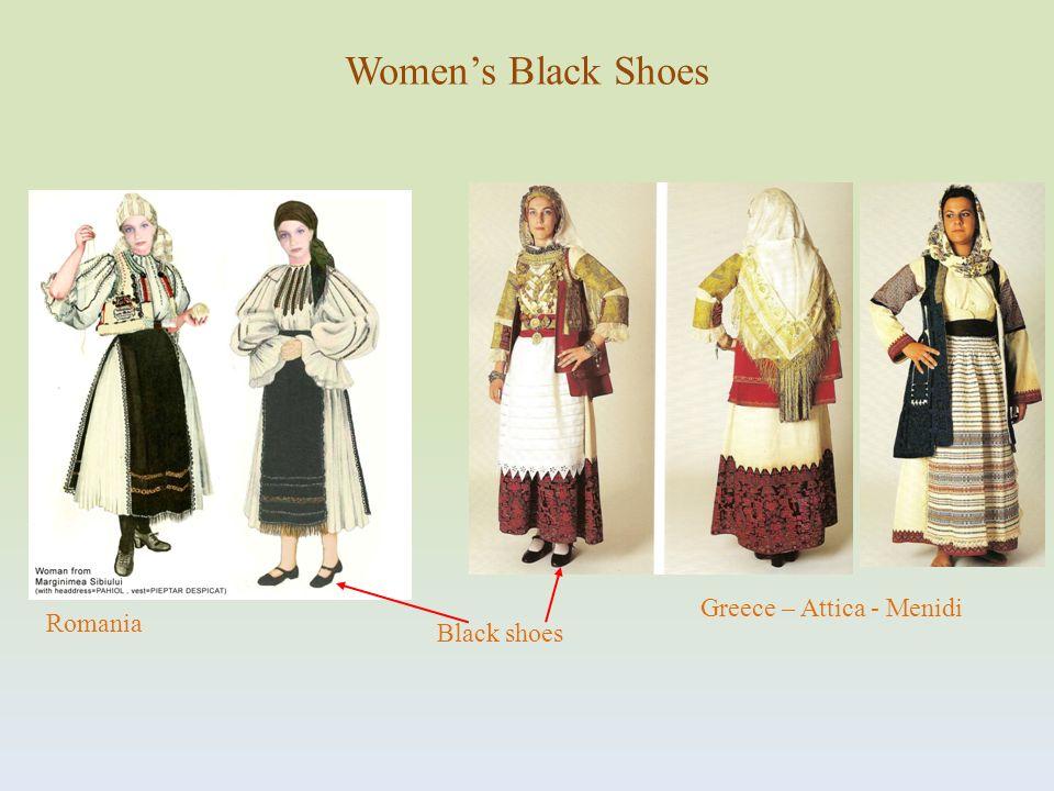 Greece – Attica - Menidi Black shoes Romania Womens Black Shoes