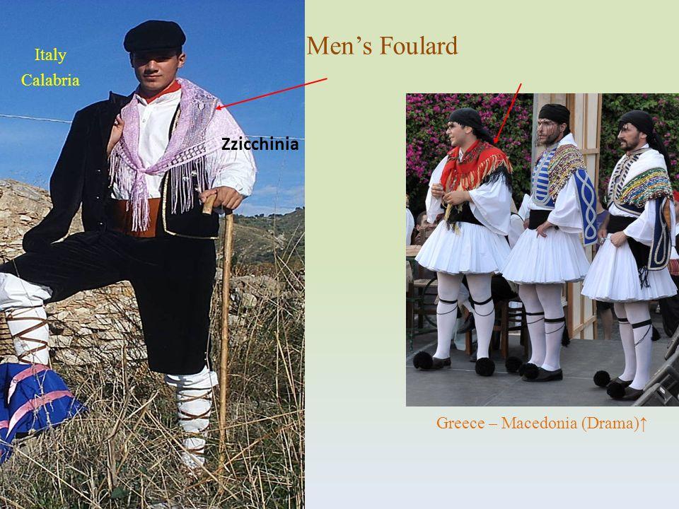 Zzicchinia Mens Foulard Greece – Macedonia (Drama) Italy Calabria