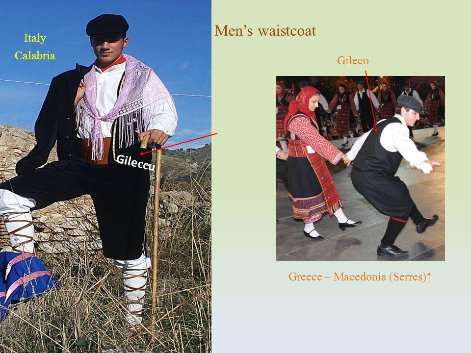Gileccu Mens waistcoat Gileco Italy Calabria Greece – Macedonia (Serres)