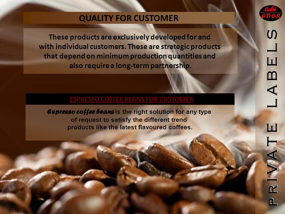 QUALITY FOR CUSTOMER These products are exclusively developed for and with individual customers.
