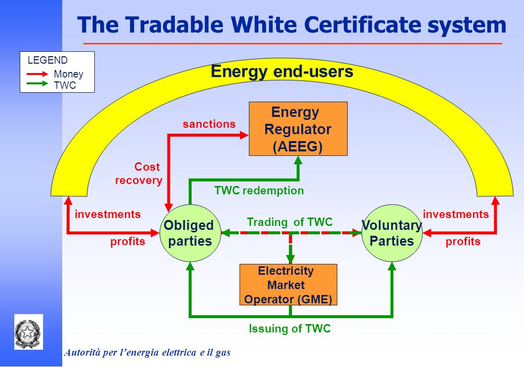 Autorità per lenergia elettrica e il gas The overall TWC mechanism: Can work fine with the rules defined up to now… but it is ambitious and complex to manage.
