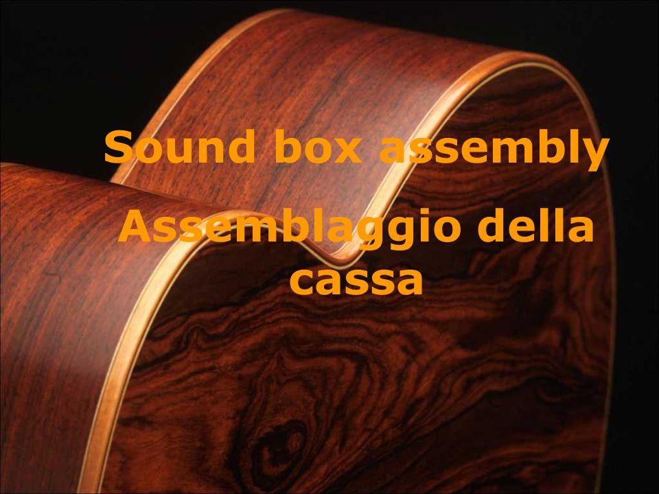 Sound box assembly Assemblaggio della cassa
