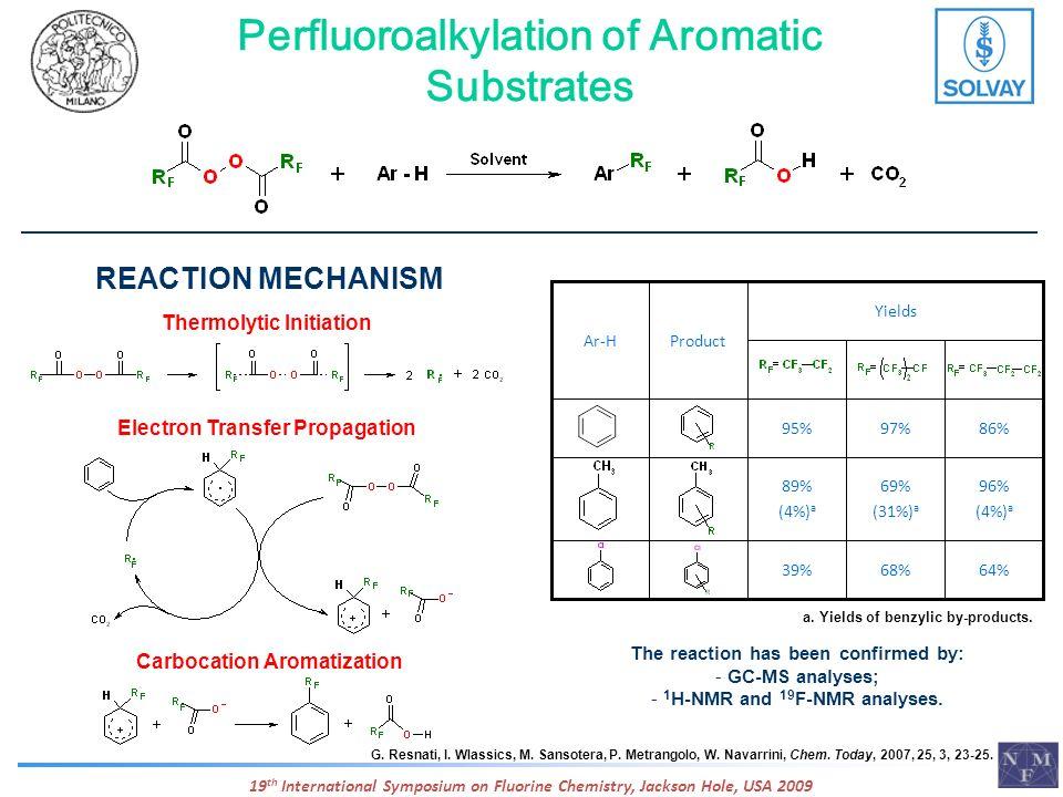 Perfluoroalkylation of Aromatic Substrates G. Resnati, I. Wlassics, M. Sansotera, P. Metrangolo, W. Navarrini, Chem. Today, 2007, 25, 3, 23-25. Thermo