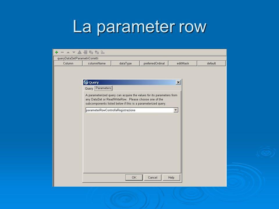 La parameter row