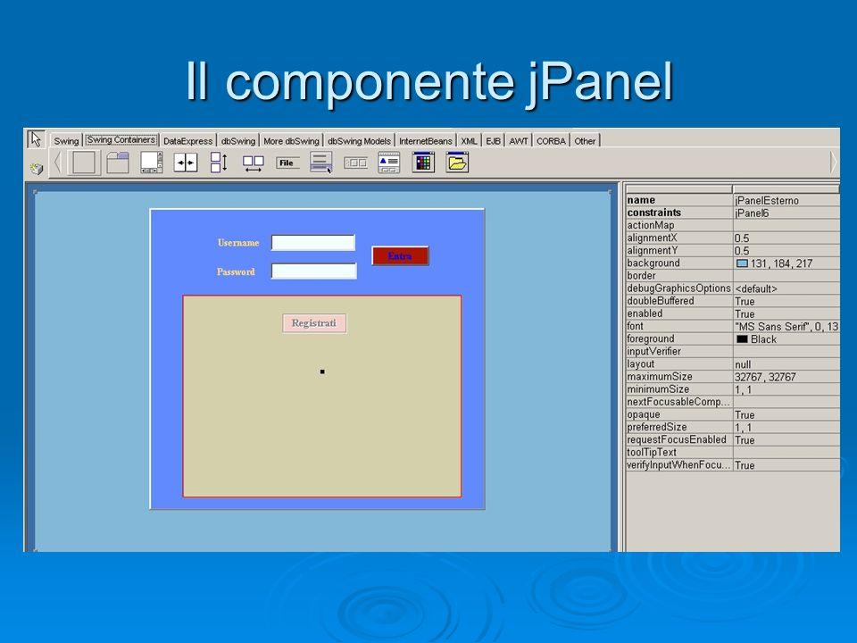 Il componente jPanel