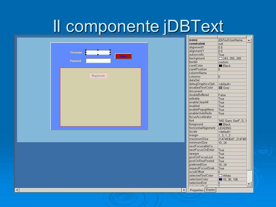 Il componente jDBText