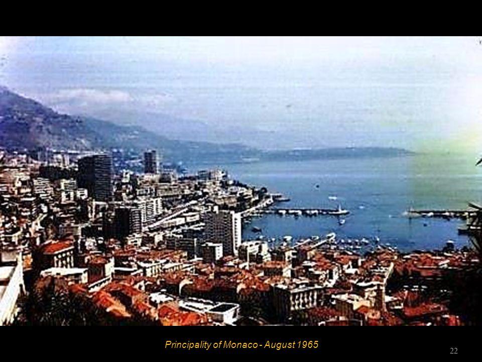 Principality of Monaco - August 1965 21