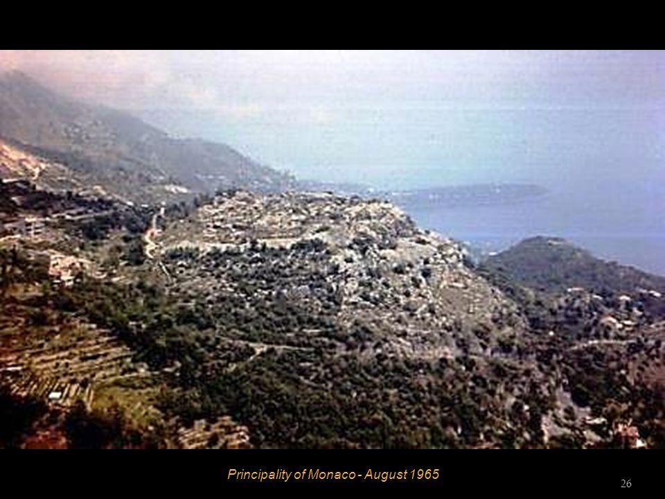 Principality of Monaco - August 1965 25