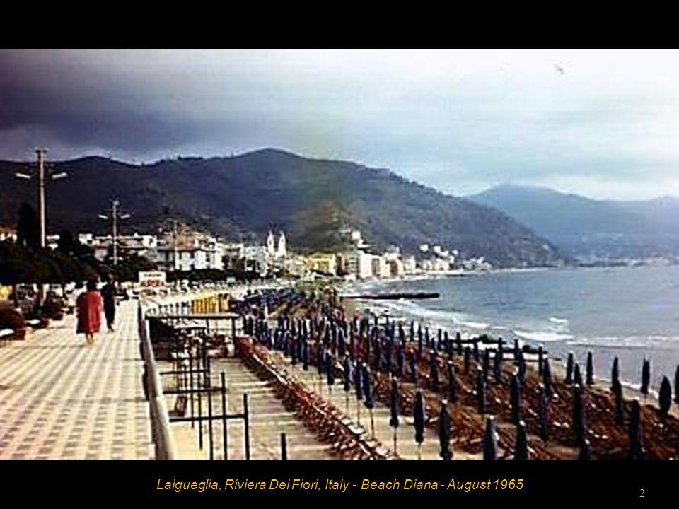 Laigueglia, Riviera Dei Fiori, Italy - Beach Diana - August 1965 1