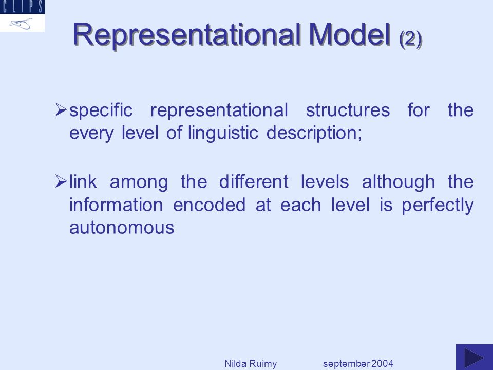 Approaches taken applicable to other language pairs sharing similarities in terms of morphological structure Derived lexicon building process is simplified and shortened Deriving new lexical resources from existing ones: a worthwhile venture in terms of time and effort Such practice entails coverage and consistency assessment of the source lexical resource Source and derived lexicons constitute a most reliable basis for developing a bilingual resource september 2004 Concluding remarks Nilda Ruimy