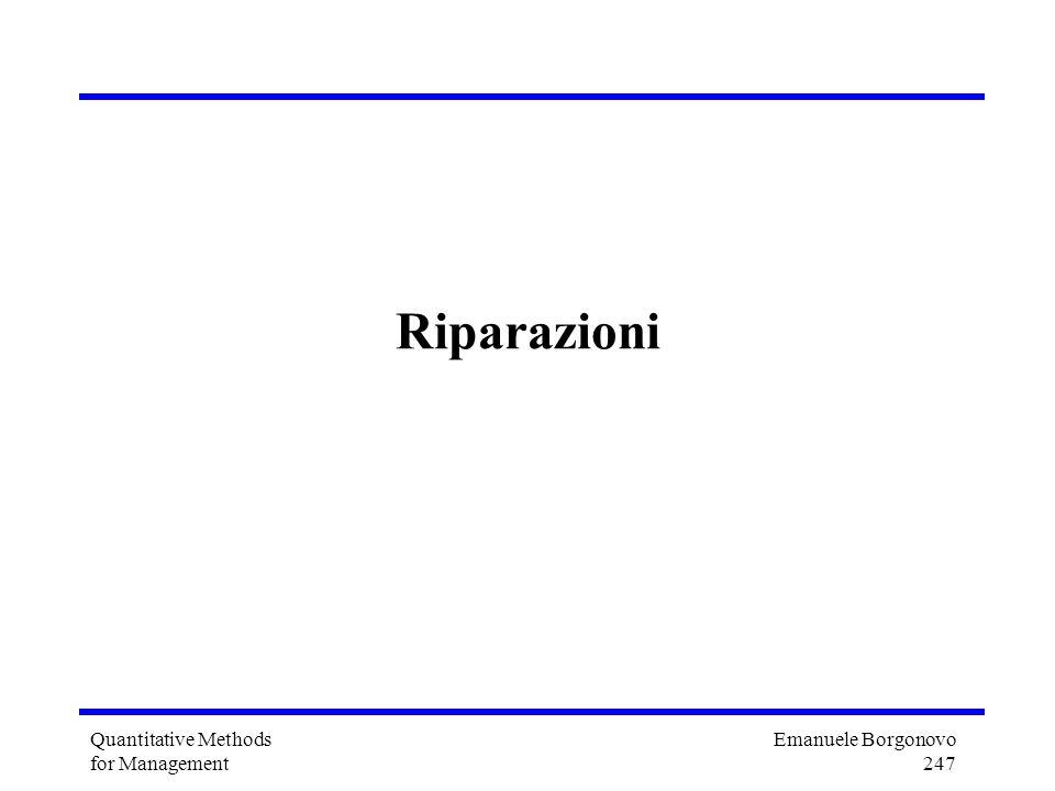 Emanuele Borgonovo 247 Quantitative Methods for Management Riparazioni
