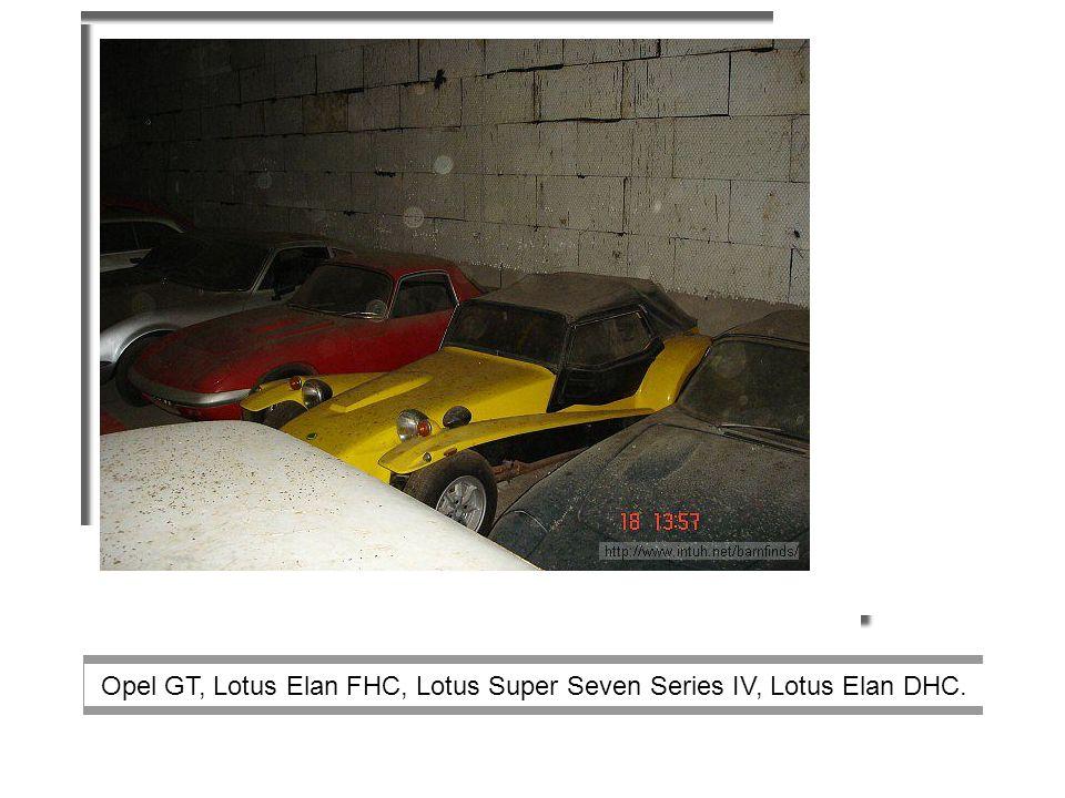 Opel GT, Lotus Elan FHC, Lotus Super Seven Series IV, Lotus Elan DHC.