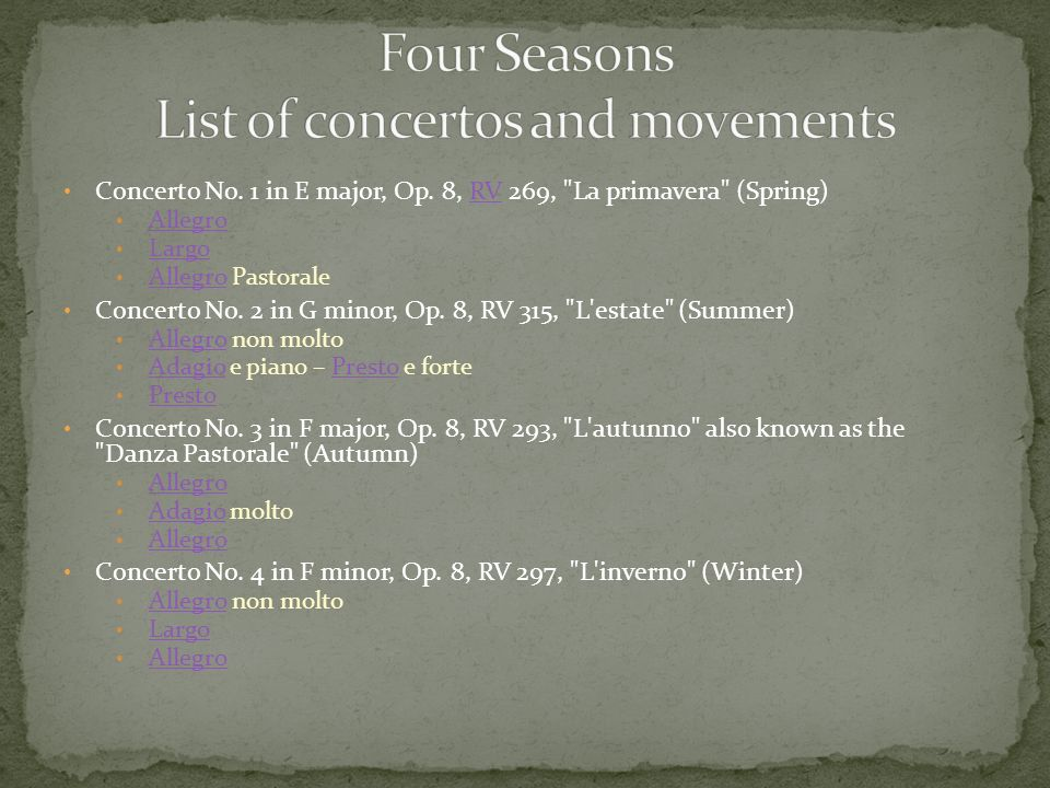Concerto No. 1 in E major, Op.