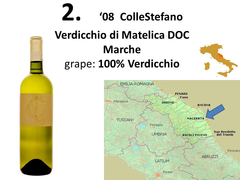 2. 08 ColleStefano Verdicchio di Matelica DOC Marche grape: 100% Verdicchio