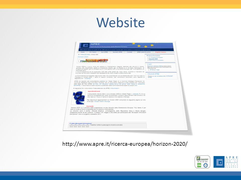 Website http://www.apre.it/ricerca-europea/horizon-2020/
