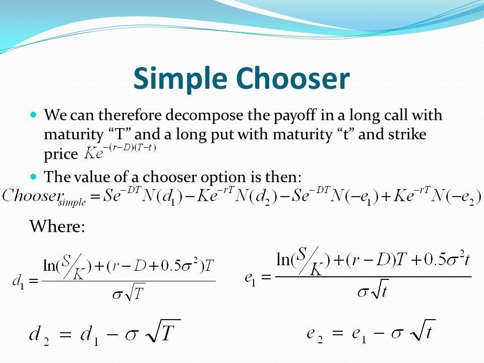 Simple Chooser-Greeks