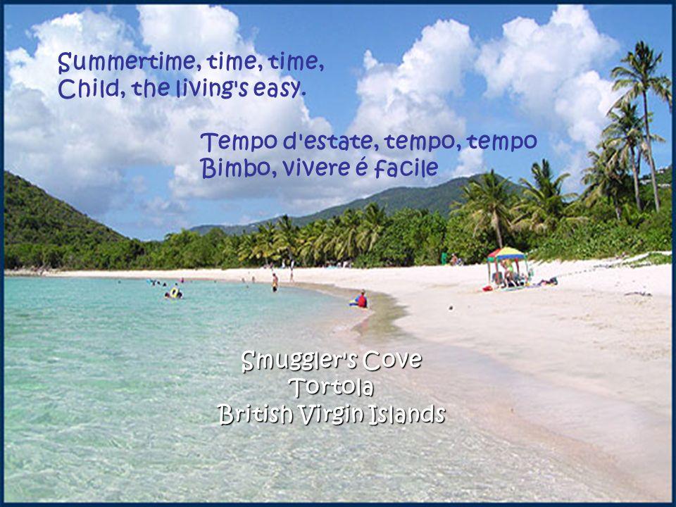 Smuggler s Cove Tortola British Virgin Islands Summertime, time, time, Child, the living s easy.