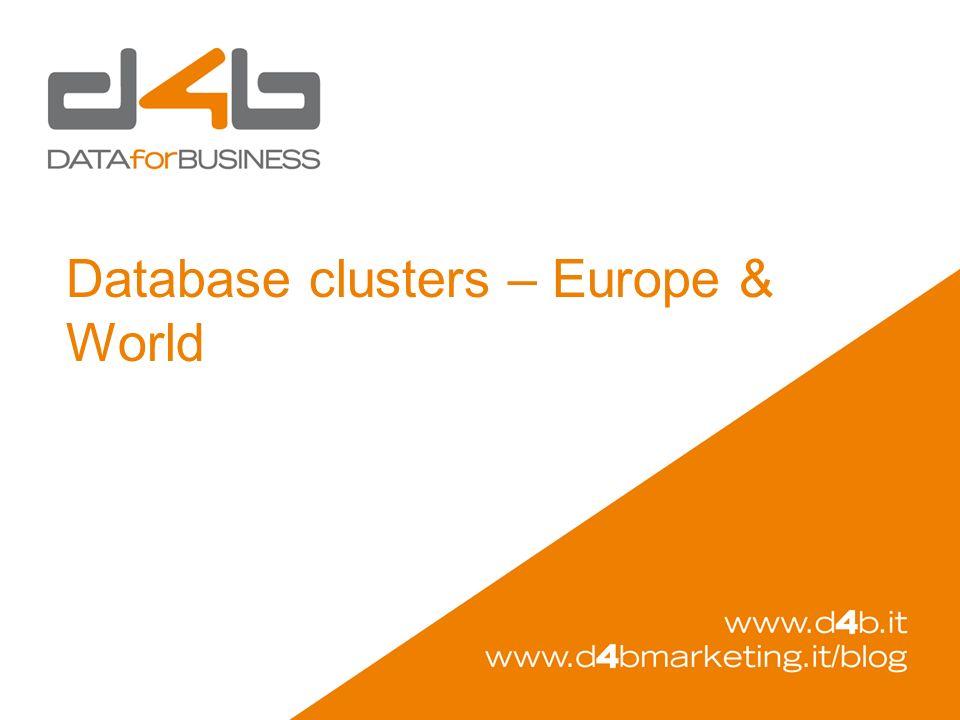 Database clusters – Europe & World