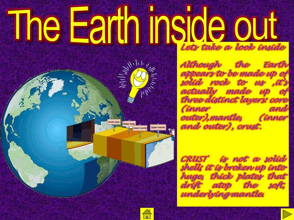 Home hypertext map slide 3 Volcanoes slide 1 Introduction slide 2 The Earth inside out slide 4 Long ago slide 5 The Pangaea slide 6 Earths plates slide 7 Continental drift slide 8 Formation slide 9 How a volcano begins slide 10 Why.