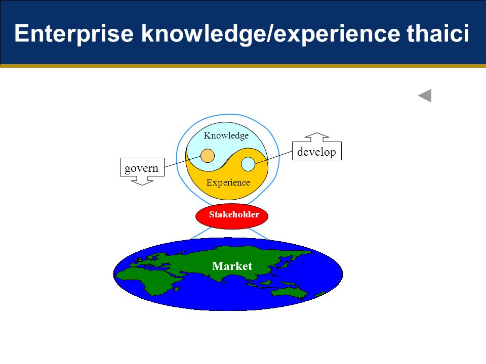 Enterprise knowledge/experience thaici Knowledge Experience Stakeholder Market govern develop