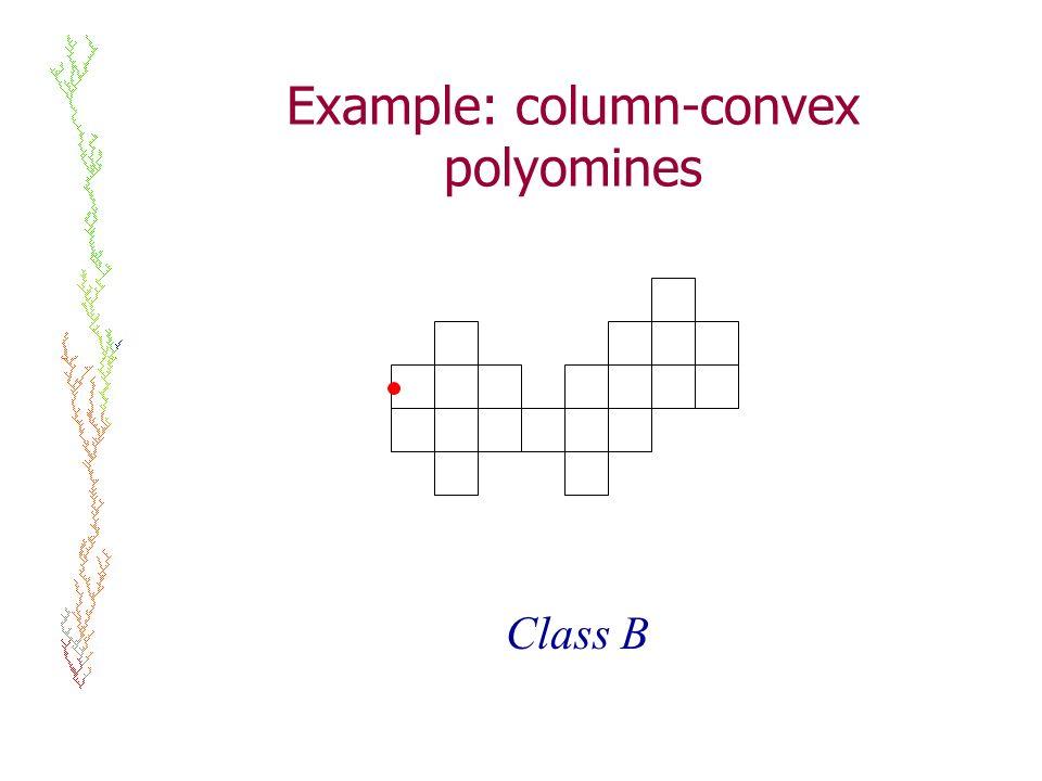 Example: column-convex polyomines Class B