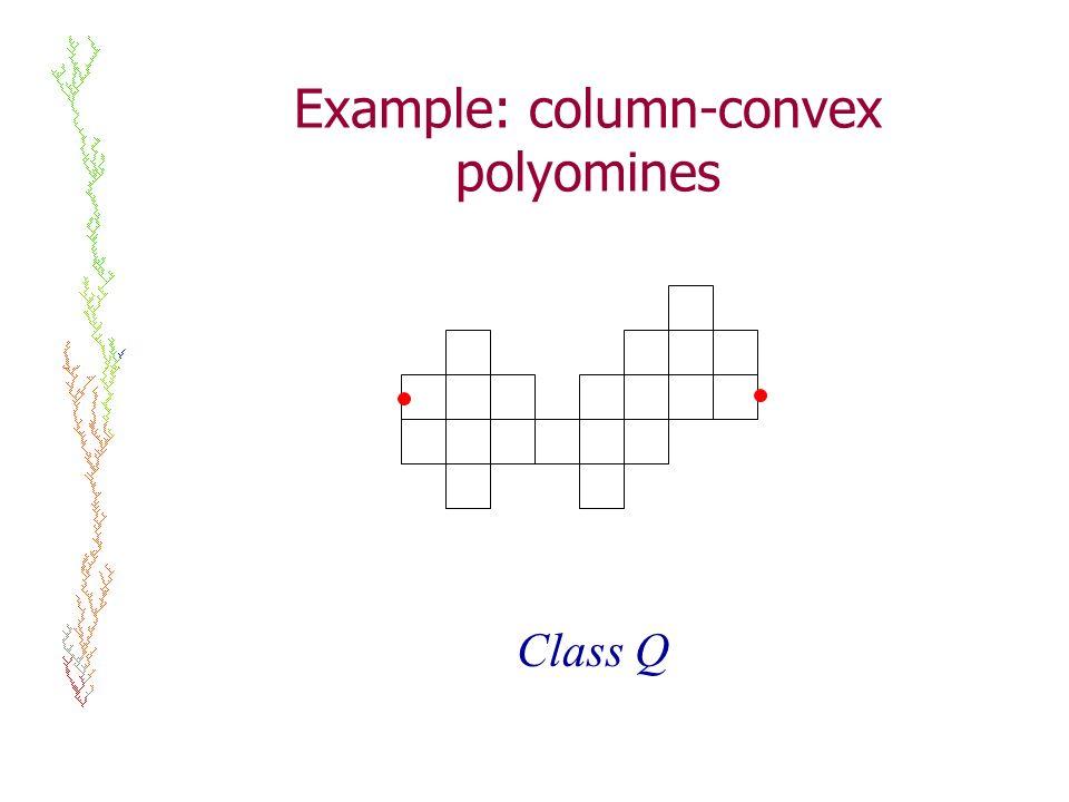 Example: column-convex polyomines Class Q