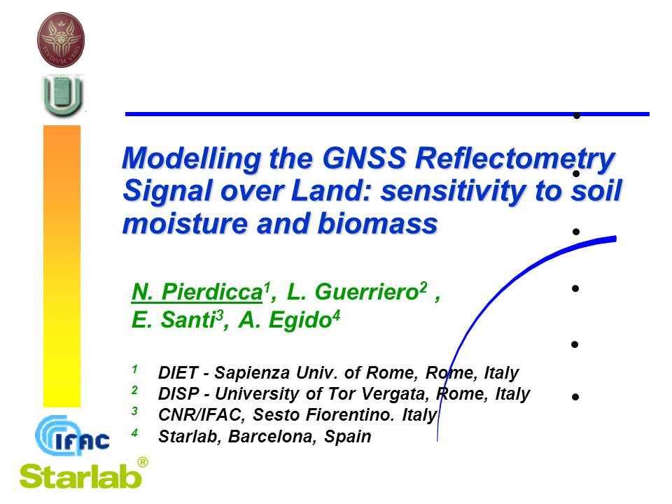 AIT-CeTeM – Telerilevamento a Microonde, Bari 4,5 dicembre 2012 12 |Y | 2 Processed signal power at the receiver vs.