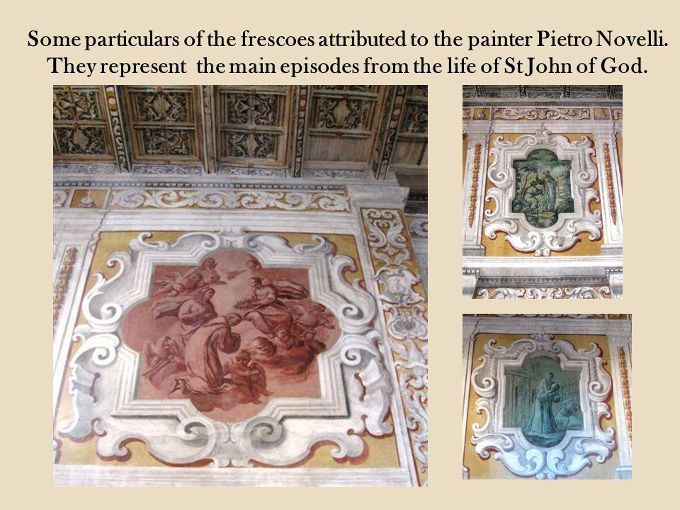Some particulars of the frescoes attributed to the painter Pietro Novelli.