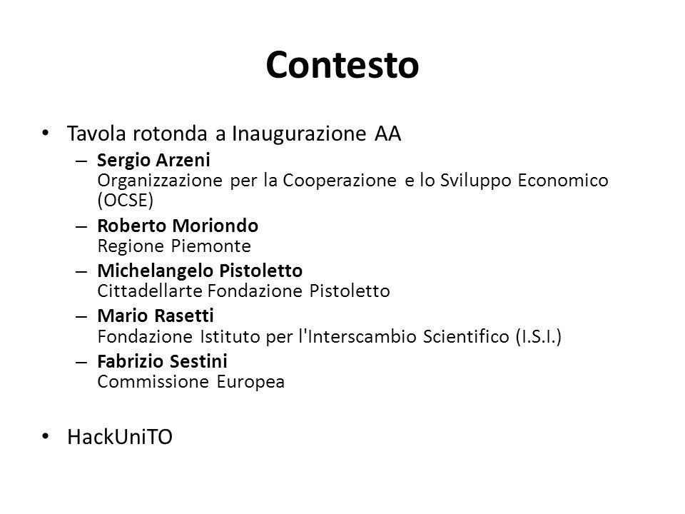 Contesto Tavola rotonda a Inaugurazione AA – Sergio Arzeni Organizzazione per la Cooperazione e lo Sviluppo Economico (OCSE) – Roberto Moriondo Region