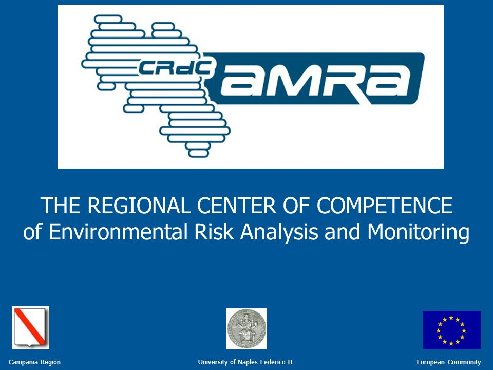 REGIONAL CENTER OF COMPETENCE ENVIRONMENTAL RISK ANALYSIS AND MONITORING THE REGIONAL CENTER OF COMPETENCE of Environmental Risk Analysis and Monitoring European Community Campania Region University of Naples Federico II