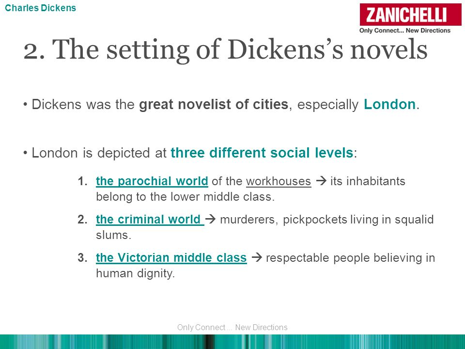 Detailed description ofSeven Dials, a notorious slum district its sense of disorientation and confinement is clearly expressed in Dickenss novels 2.