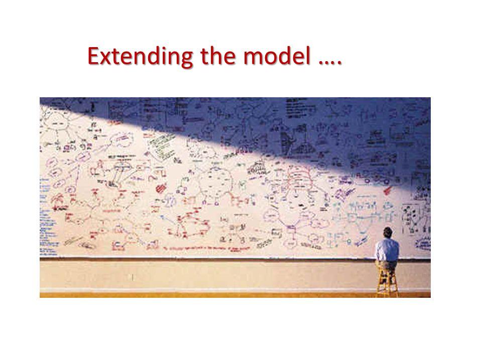 Extending the model ….