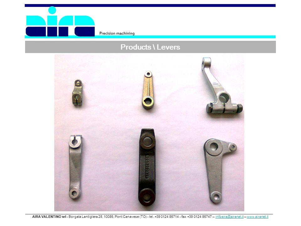 Products \ Levers AIRA VALENTINO srl - Borgata Lantigliera 28, 10085, Pont Canavese (TO) - tel. +39 0124 85714 - fax +39 0124 85747 – infoaira@airanet