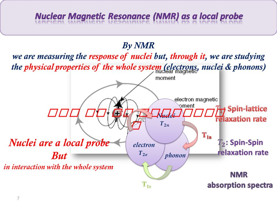 1 H NMR 19 F NMR 53 Cr NMR 1 H NMR Abundance proton (High sensitivity ) Study of NMR relaxation rates and spectra 53 Cr NMR 19 F NMR 8 Advanced tools for molecular spin dynamics investigation