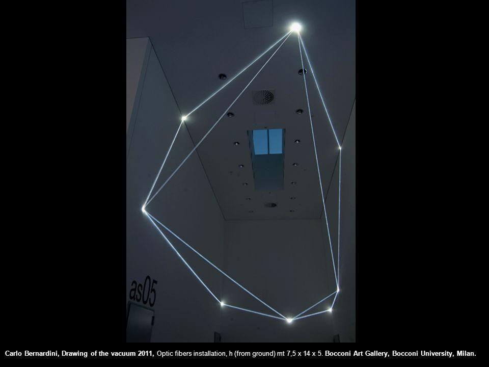 Carlo Bernardini, Drawing of the vacuum 2011, Optic fibers installation, h (from ground) mt 7,5 x 14 x 5.