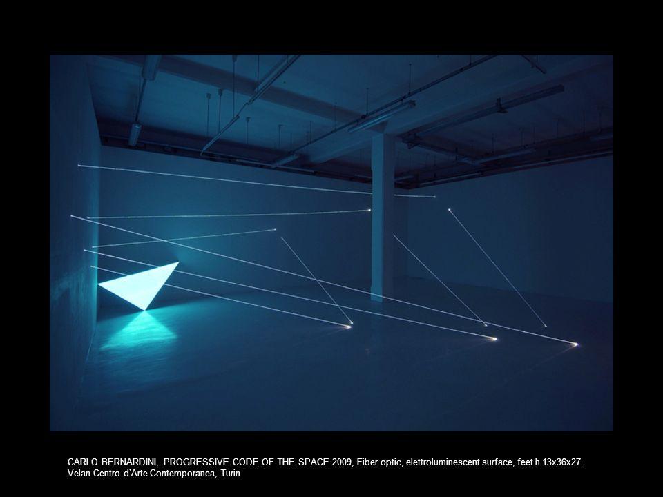 CARLO BERNARDINI, PROGRESSIVE CODE OF THE SPACE 2009, Fiber optic, elettroluminescent surface, feet h 13x36x27.
