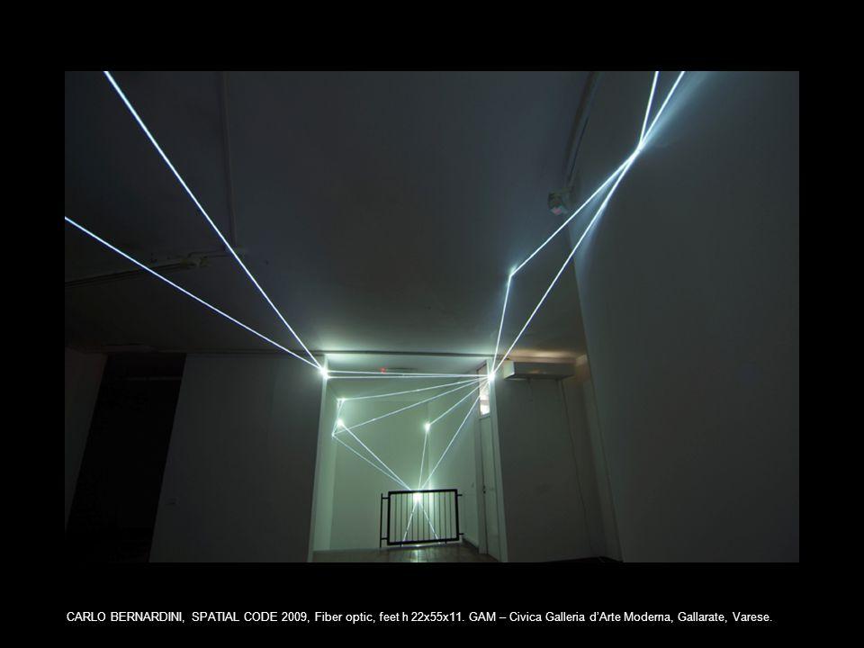 CARLO BERNARDINI, SPATIAL CODE 2009, Fiber optic, feet h 22x55x11.