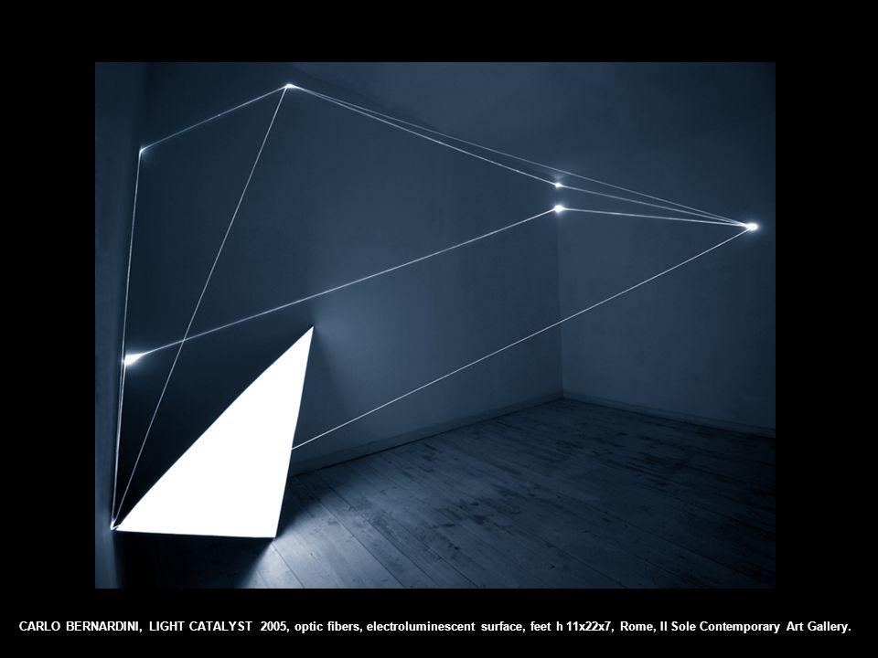 CARLO BERNARDINI, LIGHT CATALYST 2005, optic fibers, electroluminescent surface, feet h 11x22x7, Rome, Il Sole Contemporary Art Gallery.