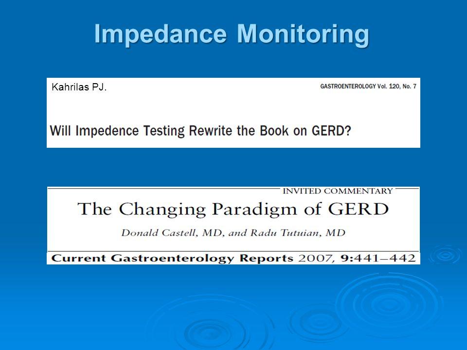 Impedance Monitoring Kahrilas PJ.