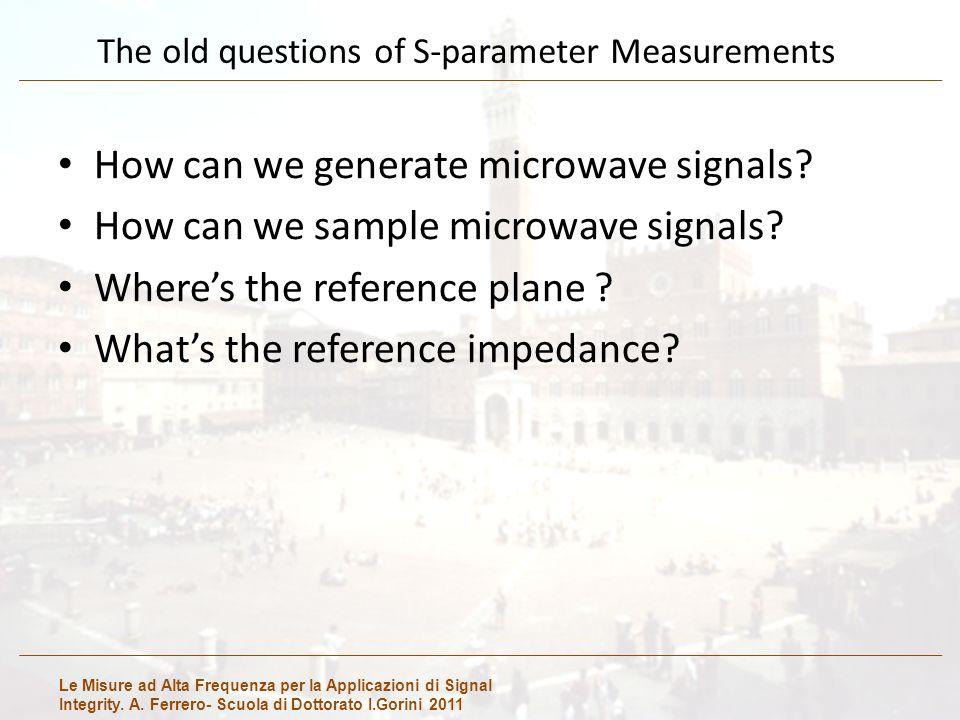 Le Misure ad Alta Frequenza per la Applicazioni di Signal Integrity. A. Ferrero- Scuola di Dottorato I.Gorini 2011 The old questions of S-parameter Me