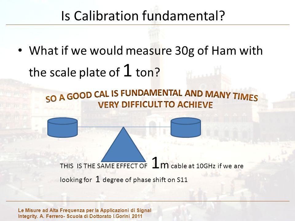 Le Misure ad Alta Frequenza per la Applicazioni di Signal Integrity. A. Ferrero- Scuola di Dottorato I.Gorini 2011 Is Calibration fundamental? What if