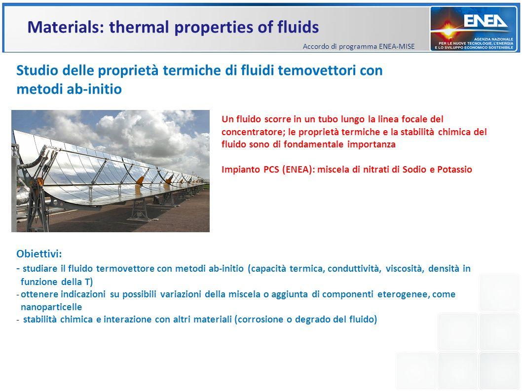 Studio delle proprietà termiche di fluidi temovettori con metodi ab-initio Un fluido scorre in un tubo lungo la linea focale del concentratore; le pro