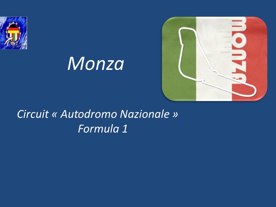 Circuit « Autodromo Nazionale » Formula 1 Monza