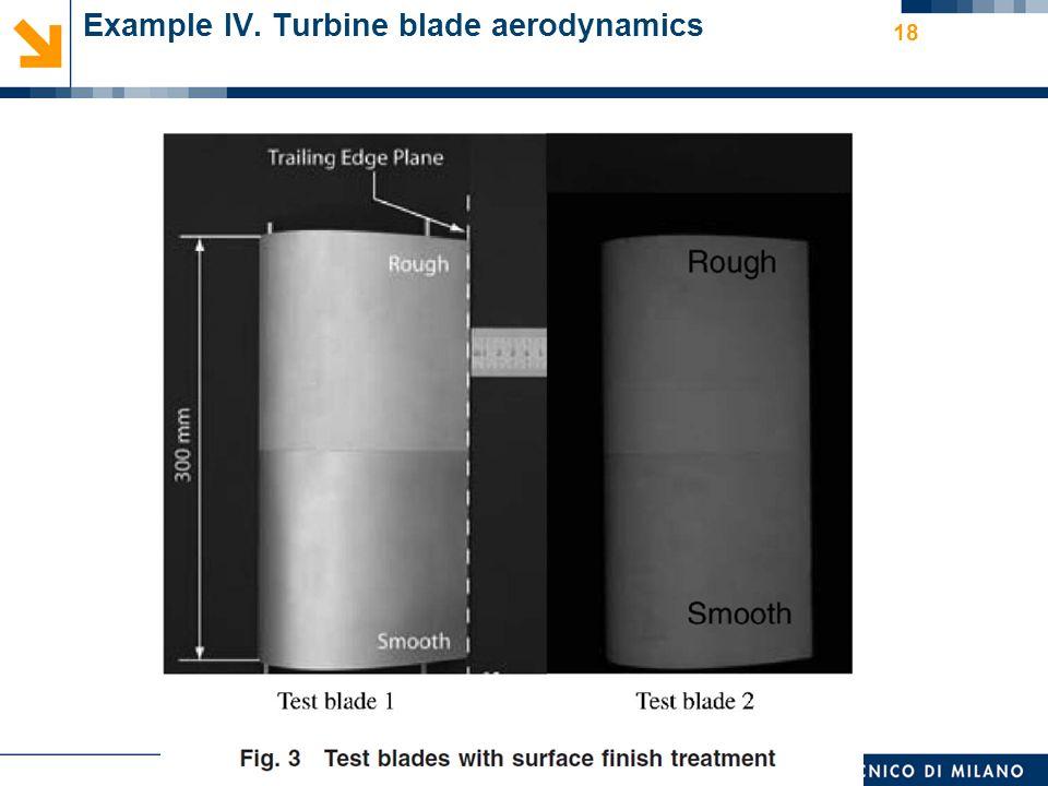 Nome relatore 18 Example IV. Turbine blade aerodynamics