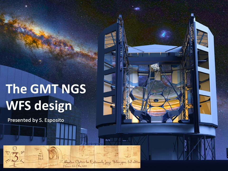 The GMT NGS WFS design Presented by S. Esposito
