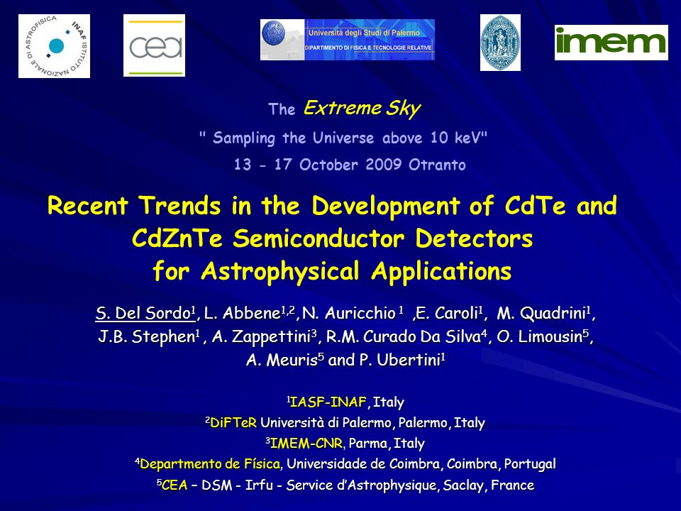 Recent Trends in the Development of CdTe and CdZnTe Semiconductor Detectors for Astrophysical Applications S.