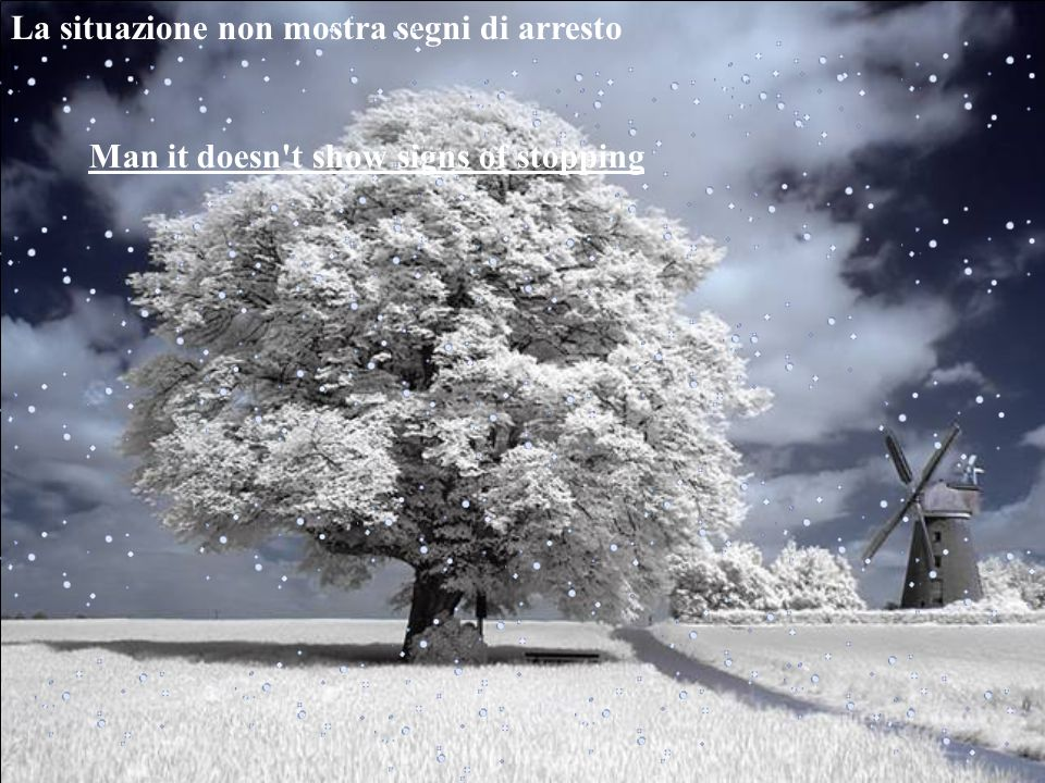 Let it snow let it snow let it snow lascia che nevichi…..