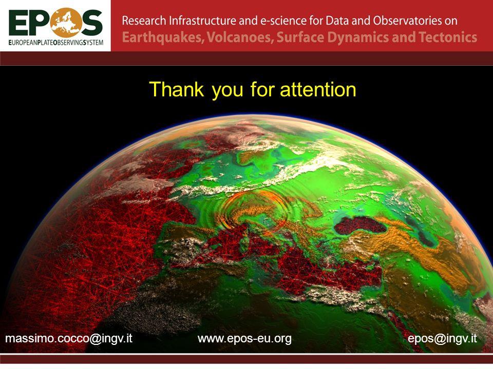Thank you for attention massimo.cocco@ingv.itepos@ingv.itwww.epos-eu.org